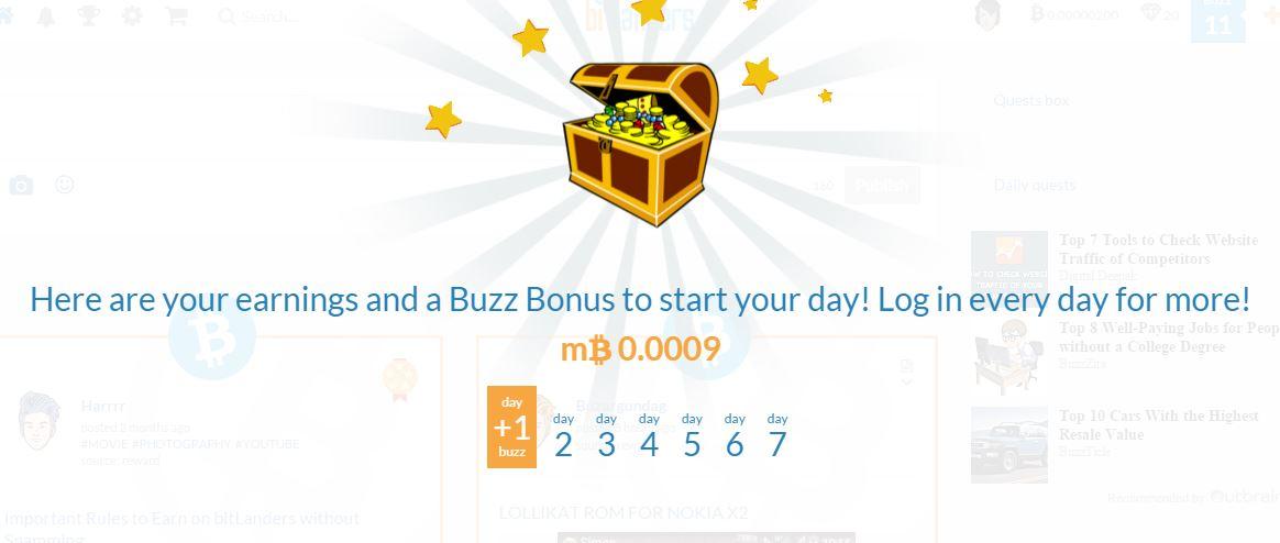 bitlanders login bonus