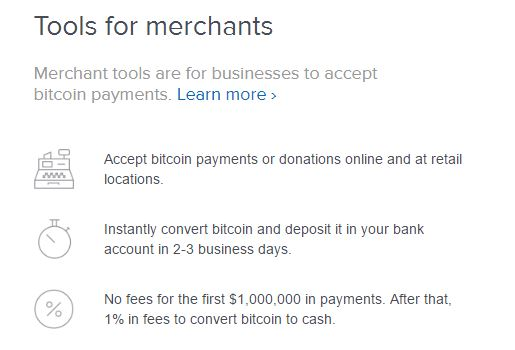 coinbase tools for merchants